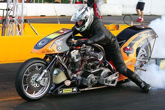 King Racing Top Fuel Bike Drag Racing